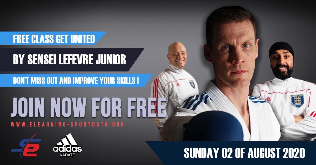 Get United Free Class with Sensei Lefevre Junior, sponsored by Adidas